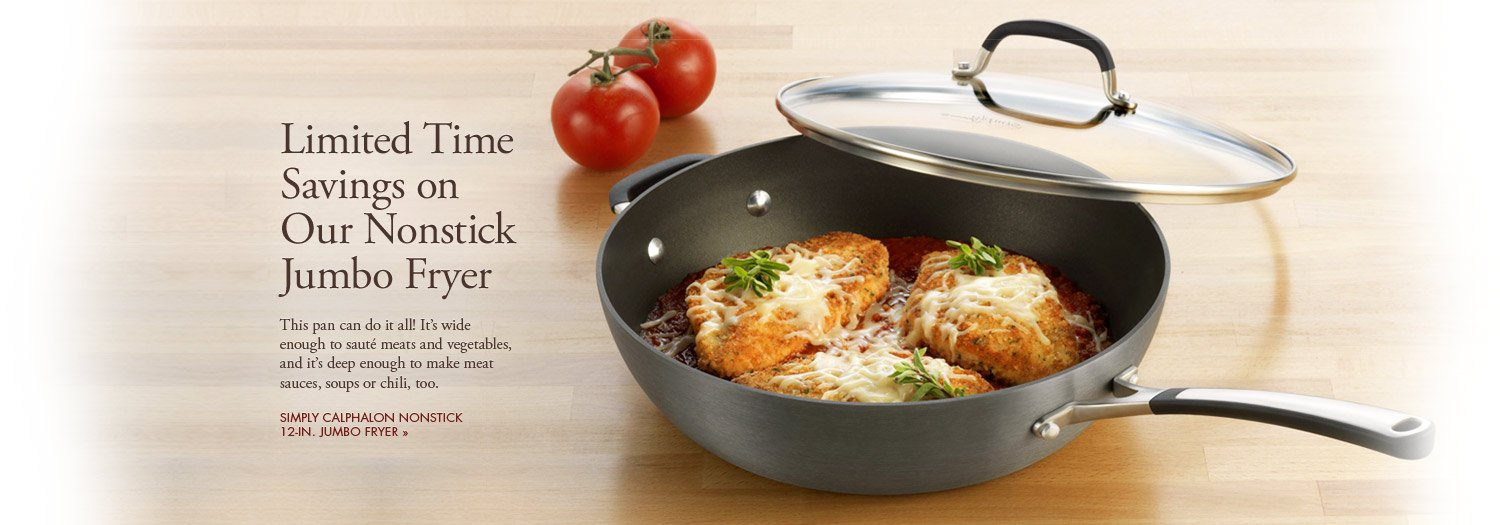 Limited Time Savings on Our Nonstick Jumbo Fryer