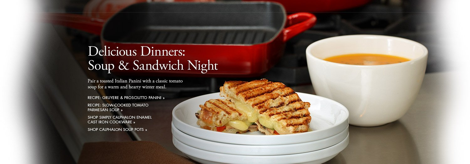 Delicious Dinners: Soup and Sandwich Night