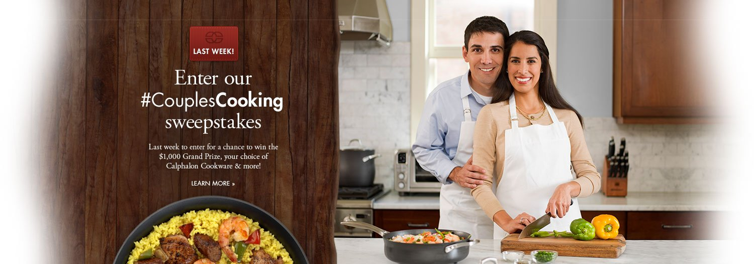 Enter our CouplesCooking sweepstakes