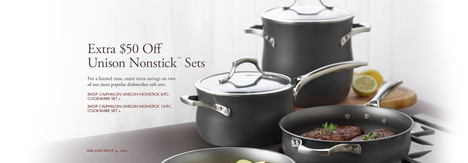 Extra $50 Off Unison Nonstick Sets