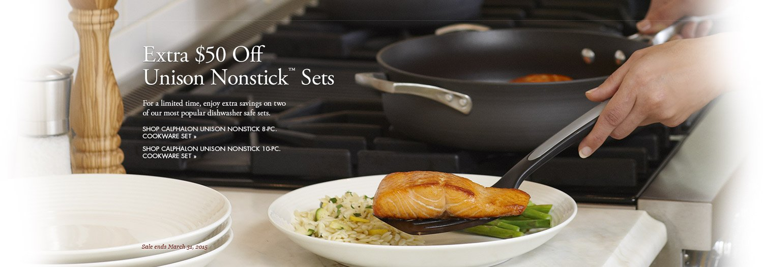 Extra 50 Dollars Off Unison Nonstick Sets