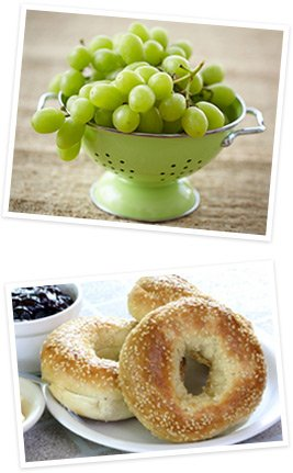 Grapes and Bagels