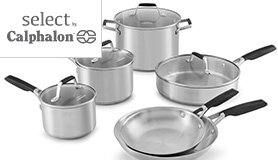 select by calphalon stainless steel cookware