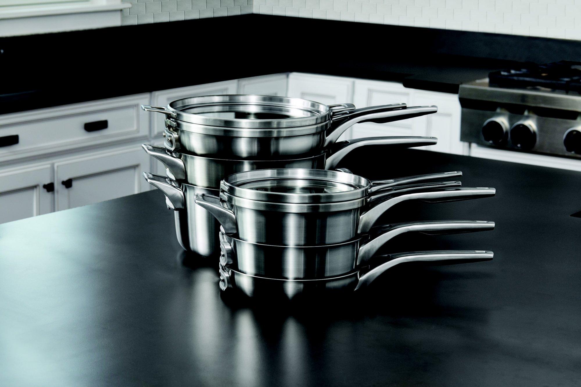 Calphalon Premier Space Saving Stainless Steel 10 Fry Pan